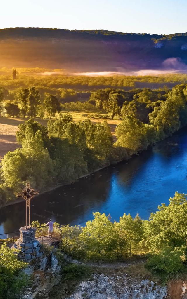 La Dordogne vue depuis le belvédère de Copeyre